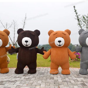 inflatable bear mascot costume. inflatable advertising