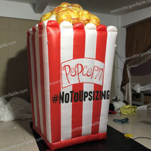 Custom inflatable popcorn decoration. Packaging and advertising POS.