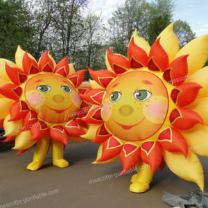 inflatable sun mascot disguise. Inflatable custom decoration.